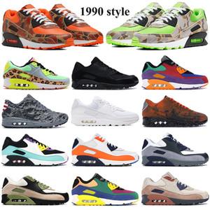Populares zapatillas deportivas estilo 1,990 inversa pato naranja camo 90 LX verdes dancecolor Hombres Mujeres zapatillas OG 2020 voltios átomos de nosotros como entrenador
