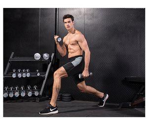 Moda para hombre pantalones rápidamente el sudor seco Pantalones cortos aptitud del ejercicio Ejecución del Diseñador de entrenamiento Pantalones cortos del cortocircuito del verano Homme