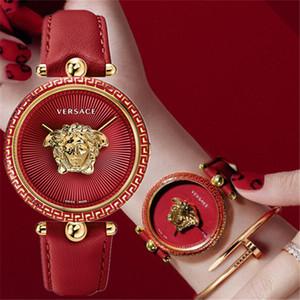 2020 Yeni Kırmızı Lüks Bayan Saatler PALAZZO serise Moda Deri Kuvars İzle Kadınlar Lady Kadın saati Relógio Bayanlar montre ile Kutusu