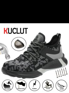 Kuclut Confortável respirável e sapatos resistentes ao desgaste Indestructible Stab Proof Sapatos de trabalho, antiderrapante isolamento de segurança Shoes