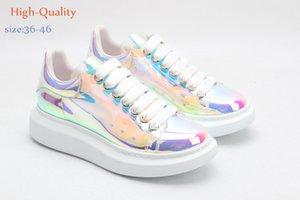 Velvet icona Neromens alexander delle donne Chaussures pedana piatta scarpe da tennis casuali McQueens progettista scarpe di cuoio Colori solidi Scarpa mcqueen