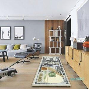 Creativo Area Rug Carpet Dollar Bill $ stampa 100 Tappetino Bagno Cucina antiscivolo Runner tappeti per la decorazione del salone