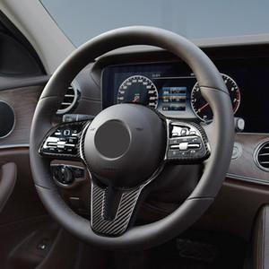Black Dry carbon fiber Steering wheel trim cover Car interior Auto Parts For BENZ B C CLSC GLC GLE GLS Class Model