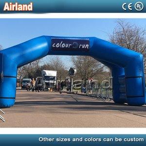 Personalize 4 pernas exterior chegaram azul inflável Iniciar Line / linha de chegada arco inflável para o jogo de esportes