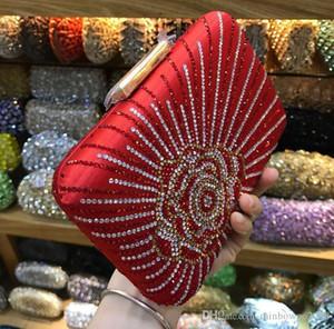 Designer-fabbrica donne di marca borsa retrò fiore caldo delle donne del diamante cena borsa sacchetto del pranzo sposa indipendente damigella d'onore raso di modo borsa
