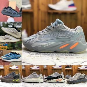 Nueva Kanye West 700 MNVN Naranja Running para hombre Zapatos de mujer baratos Vanta V3 V2 Alvah Azael Azarath inercia Vía imán niebla de Alien Runner zapatilla de deporte