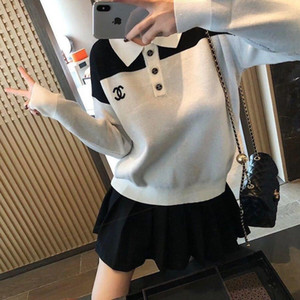 2020 Mode Frauen Pullover Rundhals Strickwaren klassischen Hoodie aus reiner Baumwolle Liebhaber Pullover Strickjacke Wintermantel Freies Verschiffen X7
