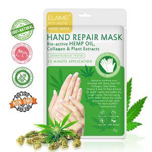 ALIVER ELAIMEI Honey Hand Mask Moisturizing Silk Skiing Improves Dry Exfoliating Hand Mask Collagen Infused Moisturizing Gloves