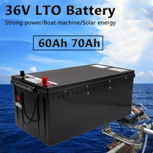 Propeller LTO battery pack 36V 60Ah 70Ah Lithium titanate with power BMS for Marine Fishing wheel+10A charger