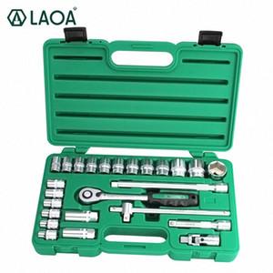 Reparação LAOA 52PCS Car Tool Set chave de soquete Set catraca Ferramentas Kit Veículo Automóvel Manutenção Box navio da Polônia Ieuu #