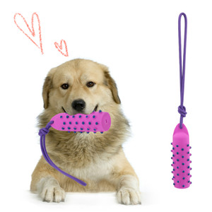 144pcs Dog Toys pink Dotted Dumbbell Shaped Dog Toys Squeeze Squeaky Faux Bone Pet Chew Toys For Dogs