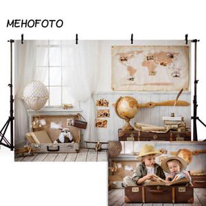 Background MEHOFOTO Crianças Travel Photography Backdrops bebé recém-nascido quarto Toy Pilot Photobooth Photo Studio Props