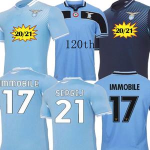 2021 Home Out Your Lazio Improbile Mens Kids Kit Soccer Jerseys 120-летие Maglie Luis Bastos Alberto Sergej Детские футбольные рубашки 20 21