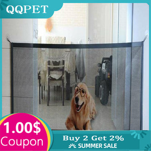 Home Pet Dog Fences Pet Isolated Network Stairs Gate Folding Mesh Playpen For Dog Cat Baby Safety Fence Dog Cage Pet Accessories