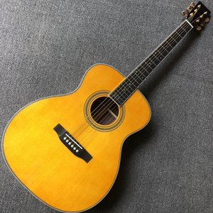 chitarra su ordinazione, 39 pollici top in abete massello OM, tastiera in ebano chitarra acustica, il trasporto libero, guitarra