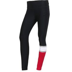 Donne Leggings Donne Sexy Yoga Outfits marca pantaloni jogging stampa della lettera Capris Mesh Sportswear pantaloni casuali di marca 2020 nuovo commercio all'ingrosso
