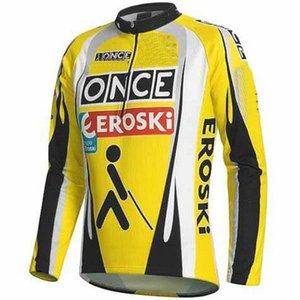 WINTER FLEECE THERMAL NUR WINTERJACKE Kleidung lang JERSEY ROPA CICLISMO ONCE EROSKI TEAM Retro CLASSIC GRÖSSE: XS-4XL