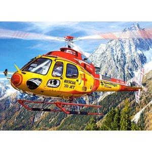 """Quadrato Figura / rotonda Drill 5D fai da te diamante Pittura """"Helicopter"""" paesaggio di montagna di diamanti ricamo punto croce Home Decor regalo"""