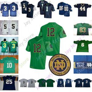 Custom Fighting Irish Football Jersey NCAA College Tony Jones Jr. Javon McKinley Chris Finke Khalid Kareem Julian Okwara Floyd Te'o Adams