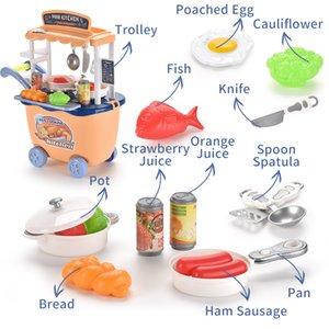 I bambini giocano giocattoli casa imitazione cucina trolley set da montare accessori vari ragazzi e le ragazze della casa del gioco regali di compleanno