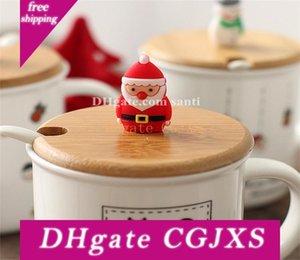 Regalo di Natale di ceramica del fumetto Seriesc Snowman Coppa Babbo Natale Bicchieri