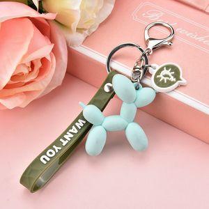 Kız için 2019 Yeni Moda Sevimli Balon Köpek Anahtarlık Anahtarlık Güzel Karikatür PVC Yaratıcı Araç Çanta Telefon kolye Anahtar zincirleri Hediyeler