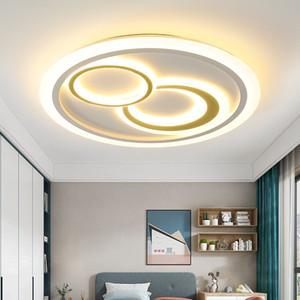 Simple round master bedroom lamp Nordic modern creative ceiling lighting children's room sleep warm eye protection soft light RW330