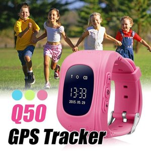 Q50 Smart Watch Gps Tracker For Kids Sos Call Anti -Lost With Sim Card Slot Location Finder For Children For Ios And Android