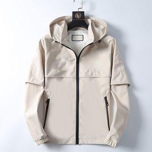 Высокое качество дизайнера куртка для мужчина с длинным рукавом рубашки мужские куртки осень зима весна роскошь одежда вышивка письмо пальто с капюшоном M-3XL