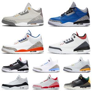 nike air jordon 3 retro jordans 3s jumpman Hombres Mujeres zapatos de Deportes zapatillas de deporte Fragmento UNC Knicks Rivals Chicago Cool Gray Traienrs tamaño de US 13