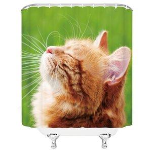 Pet Dog Cartoon 3D et le modèle de chat imperméable et Mildiou Tissu Preuve de rideau de douche Salle de bain 72 « x 72 » w / 12 Crochet gratuit Livrer