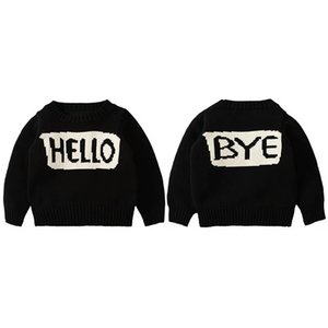 Children Fashion Sweater Spring Autumn Casual Long Sleeve Crew Neck Pullover Boys Girls Baby Unisex Letter Printed Tops Kids Clothing
