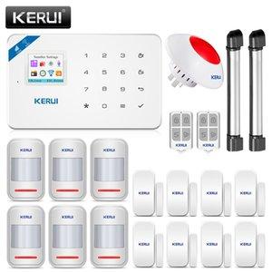 KERUI W18 GSM WIFI Alarmanlage Einbrecher Home Security APP Fernsteuerungsbewegungs-Feuer-Rauchmelder-Tür-Fenster-Sensor DIY Kit