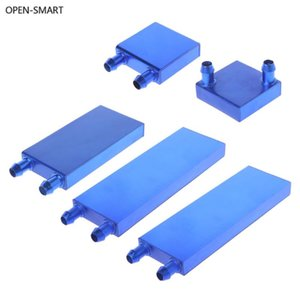 OPEN-SMART Aluminum Alloy Water Cooling Block 40 80 120 160mm For PC Lap CPU Liquid Cooler Silver System Heat Sink