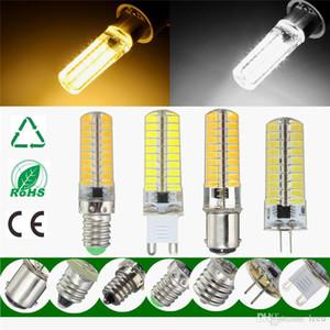 Bombilla de luz LED G4 G9 E11 E12 E14 E17 5730 SMD BA15D 80Leds lámpara de silicona caliente de la iluminación blanca pura regulable AC110V 220V