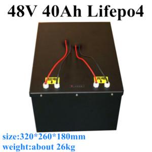 ciclo profundo caja de metal a prueba de agua de la batería de 48V 40Ah LiFePO4 para el sistema de RV UPS Solar Energy Storage + 10A Cargador