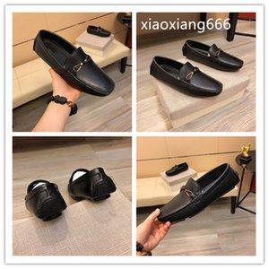 2020 neue Art und Weise Erbsen beiläufigen Männer Schuhe oberen nimmt italienische Oberschicht Kuhhaut, feine Verarbeitung, Mode Modell Modellierung Gummi wir importiert