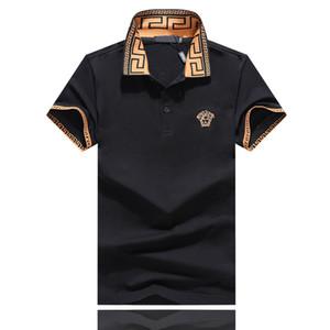 erkekler kısa kollu erkekler rahat tasarımcı polo gömlek için moda polos işlemeli yazlık erkek tasarımcı tişört yaka arı harfleri kısın