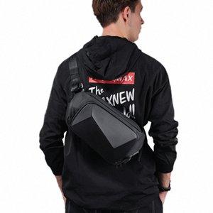 2020 Creative 3D Men Shoulder Bag Anti Theft Sling Bag Waterproof Messenger Bags USB Charging Crossbody Short Trip Chest ULDg#