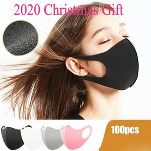 Рождество черный хлопок Мода лица Маски моющийся многоразовый защитный для взрослых Детские анти пыли Велоспорт Рот маска Дети Ткань маски