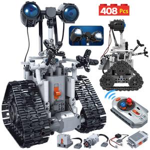 Nuovo prodotto 408PCS città creativa RC robot elettrico Building Blocks Technic Telecomando Mattoni del robot intelligente giocattoli per i bambini