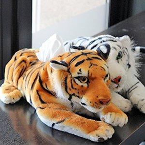 Plush Simulation Leopard Tiger Toy Napkin Paper Holder Tissue Box Home Shop Car Office Decor Creative Gift
