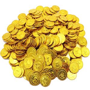 100 pcs / set do tesouro do pirata Brinquedos Caça ao Tesouro Jogo Props pirata ouro moeda de prata de Crianças moeda de cobre brinquedos Coin