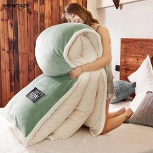 VESCOVO Winter Samt Betteinsatz Tröster mit Bettbezug 200 * 230 Queen Doppel warme Steppdecken 200 * 230