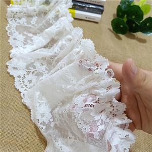 16.5cm latest floral elastic mesh eye spandex wedding white lace decorative fabric for women's bra