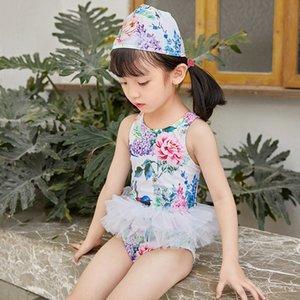 7eHeW 2020 nuove ragazze dei bambini Pengpeng gonna 'un pezzo del costume da bagno gonna Pengpeng costume da bagno per bambini ins coreano stile del bambino
