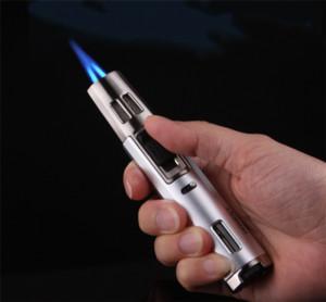 1300'C double flamme gaz butane briquet rechargeable torche de soudage de carburant à souder jamais Chef de cuisine Crème Brûlée cuisine outil de barbecue gratuit dhl