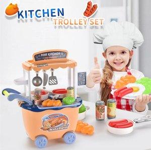 Kid Toy simulato Cucina Trolley Set gioco di finzione e Dress-up cucina officina del modello giocattolo per il bambino