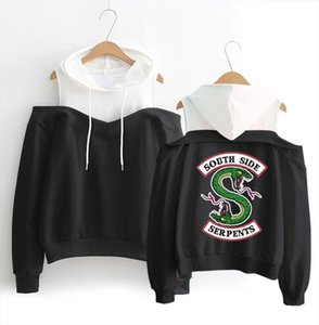 Riverdale South Side Serpents Hoodies Southside Serpents Sweatshirts Women Long Sleeve Off shoulder Exclusive Hooded Clothes Drop Shipping