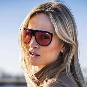 AOZE 2020 fashion style single steampunk rivets women's sunglasses gradient design brand women's oculos feminino UV